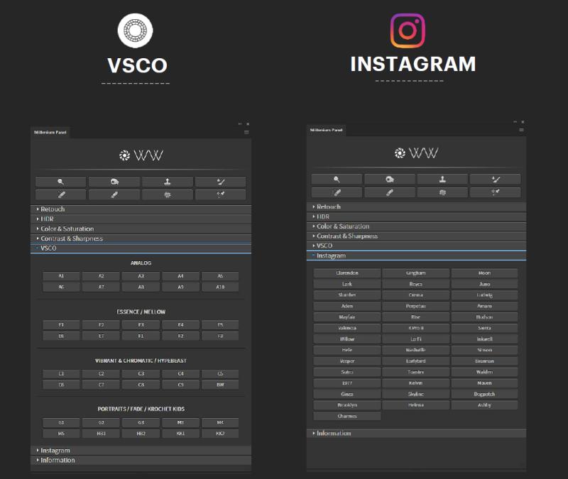 这个插件厉害了!它把VSCO 和Instagram装入PS,还能磨皮!