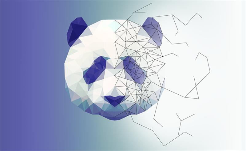 PS教程!教你绘制低多边形星空效果熊猫头像