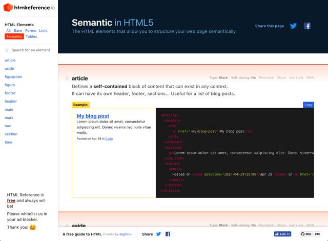 开发者必备手册!收录完整的HTML 语法教学+标签使用方法