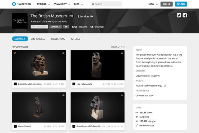 酷站两连发!大英博物馆3D模型图免费下载+5.3万卷中文善本特藏