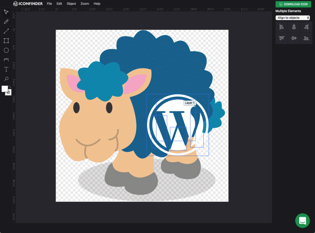 Iconfinder 开发了一个超强大的图标在线编辑器!