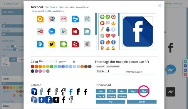 超过200万个高质量的图标素材免费下载,还可以自定义配色和大小!