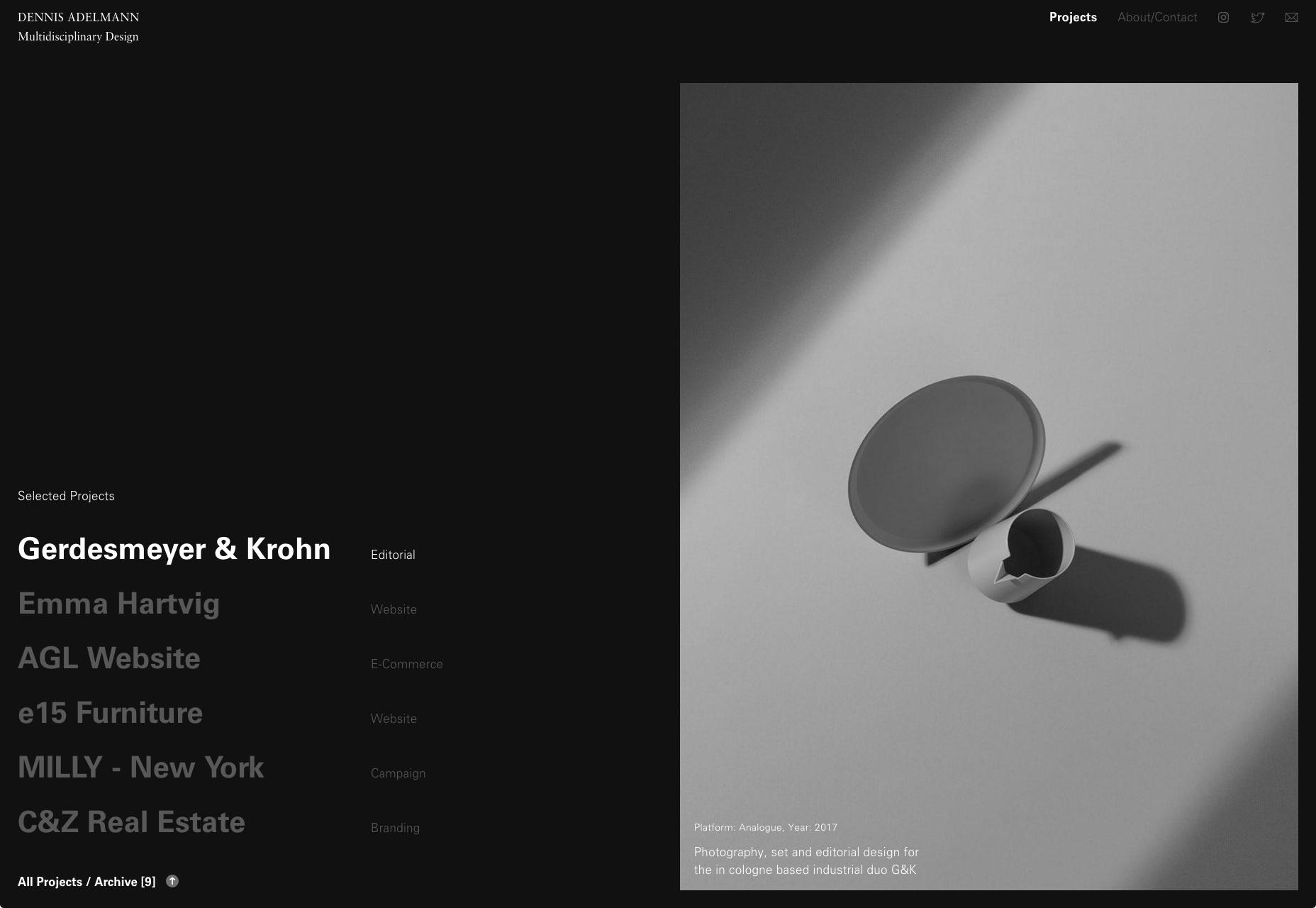 经典的极简主义仍在流行,这组设计师作品集就是如此