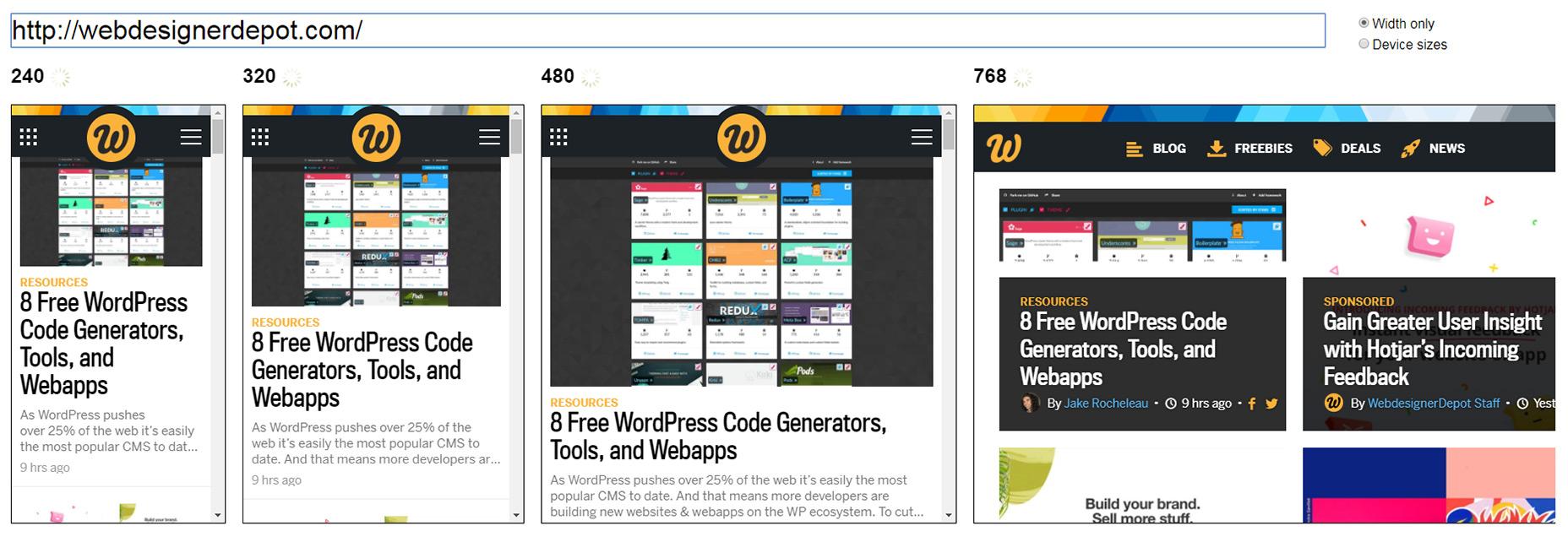 这些响应式网页测试工具确保你的设计万无一失