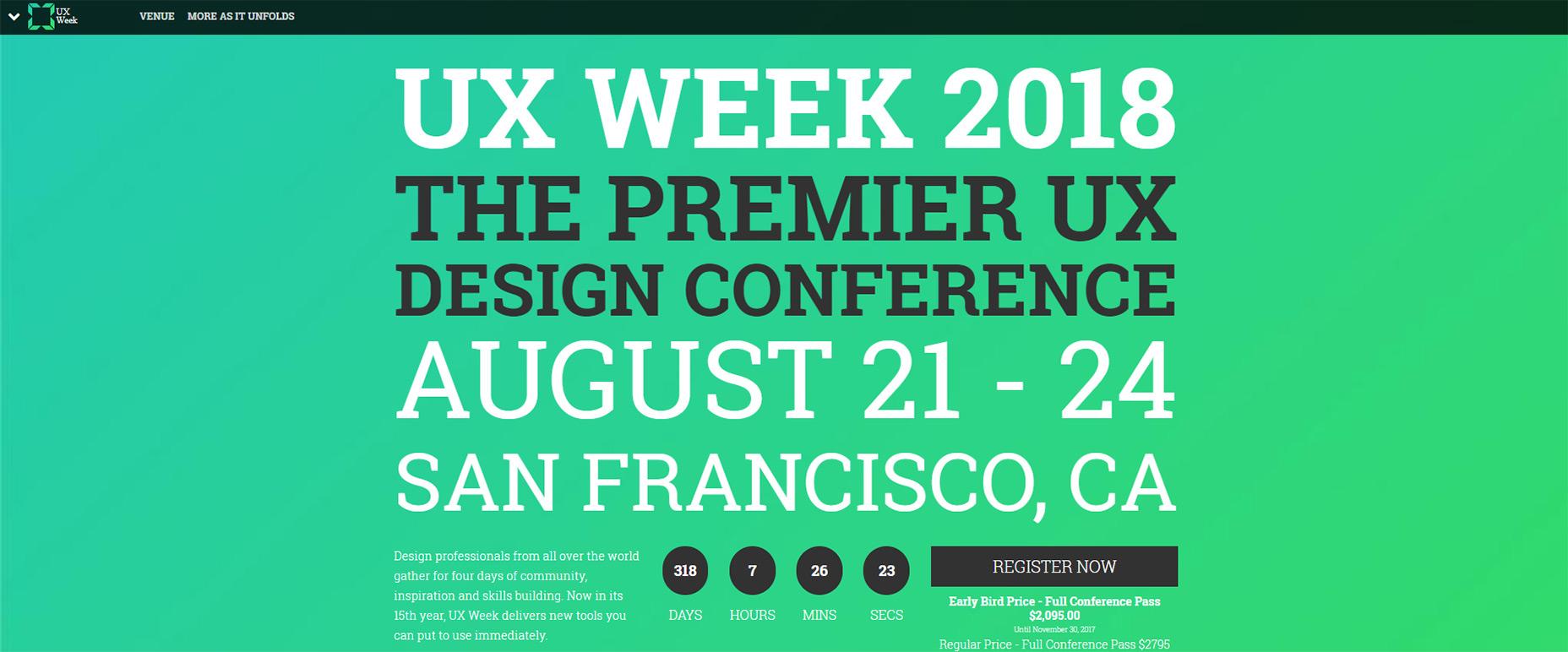 用户体验设计师,这10个世界级盛会是为你准备的