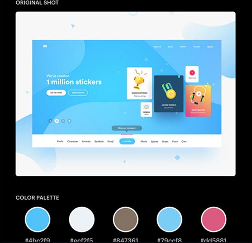 酷站两连发!Dribbble 最流行的配色板合集+在线mockup 制作