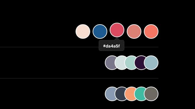 最近Dribbble 流行的配色风格是什么?看这个网站就知道!
