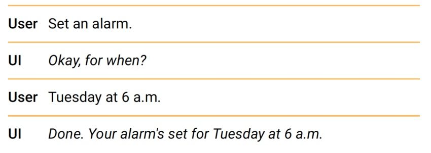 Google对话式交互规范指南(六):用户对话中的自然惯例