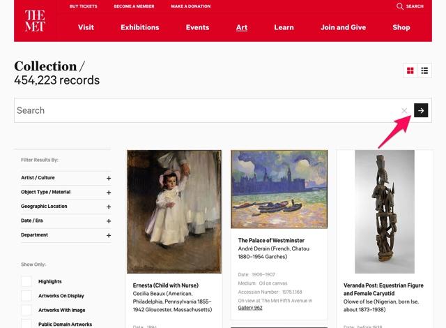 超过20万张可商用图片!美国大都会博物馆开放下载了!