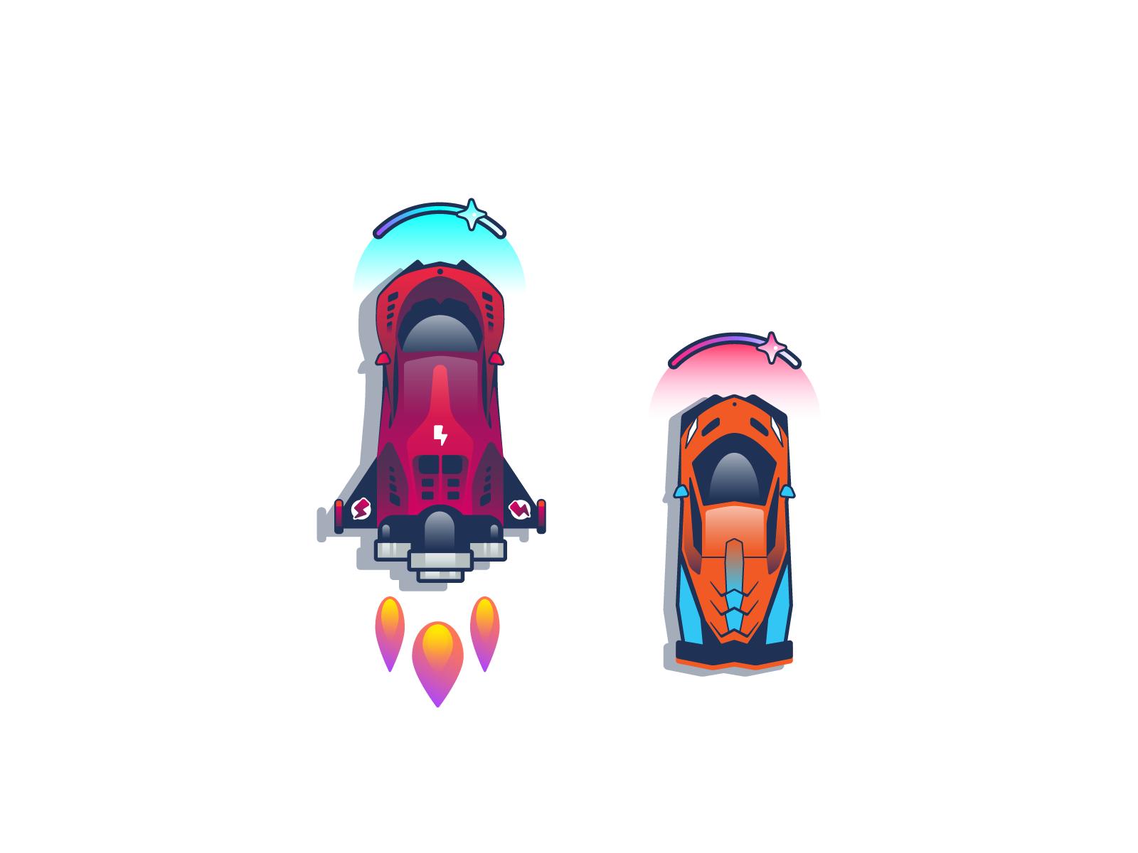 设计实战!为扁平风的移动端赛车游戏定制插画