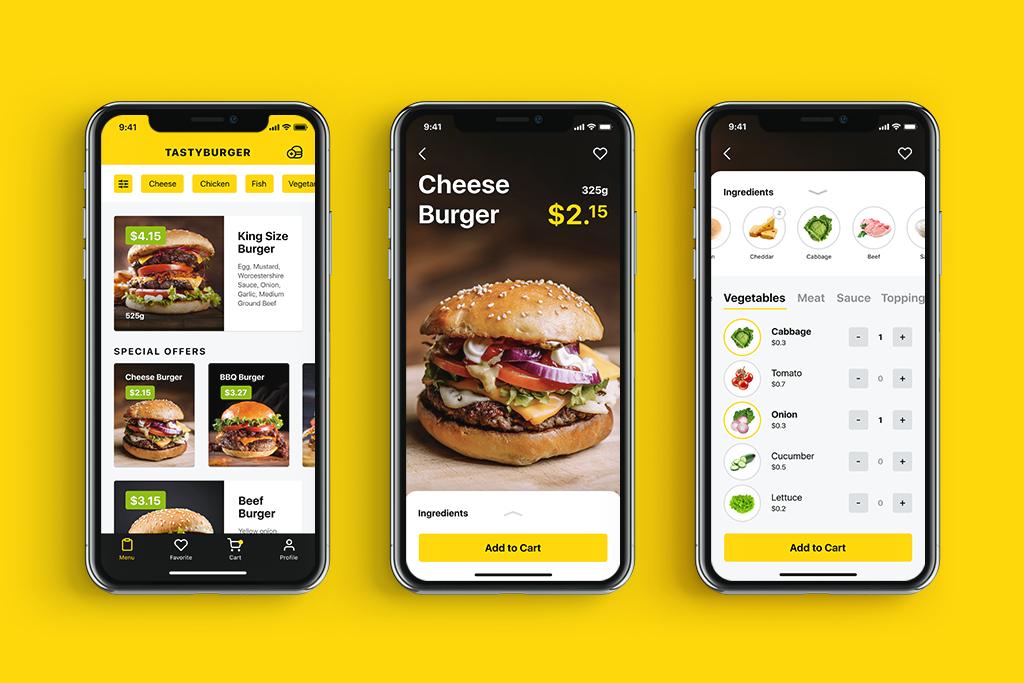 这个APP的UX设计,把订购汉堡玩出花来了