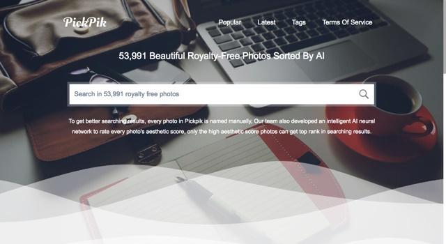 这个免费图库不仅有50000多张,还用人工智能帮你挑出最好的!