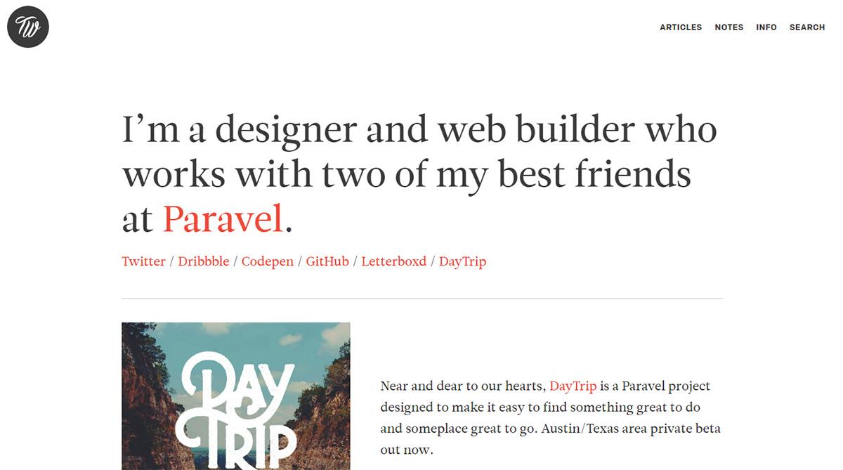 设计作品集网站的时候,如何善用超大字体元素