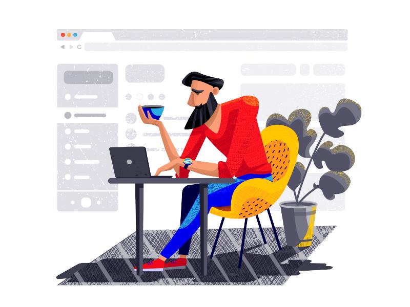 为网站定制插画有哪些可供借鉴的方法?