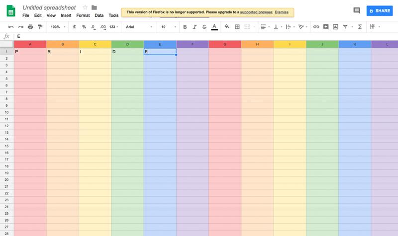 谷歌的电子表格里为什么藏着一道彩虹?