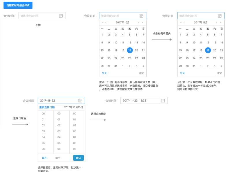 如何构建 Web 端设计组件之树和日期时间选择器