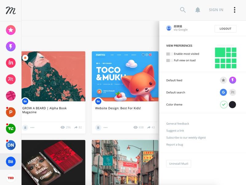想要扩充你的灵感收藏夹?好用的谷歌插件 Muzli推荐给你 - 优设-UISDC