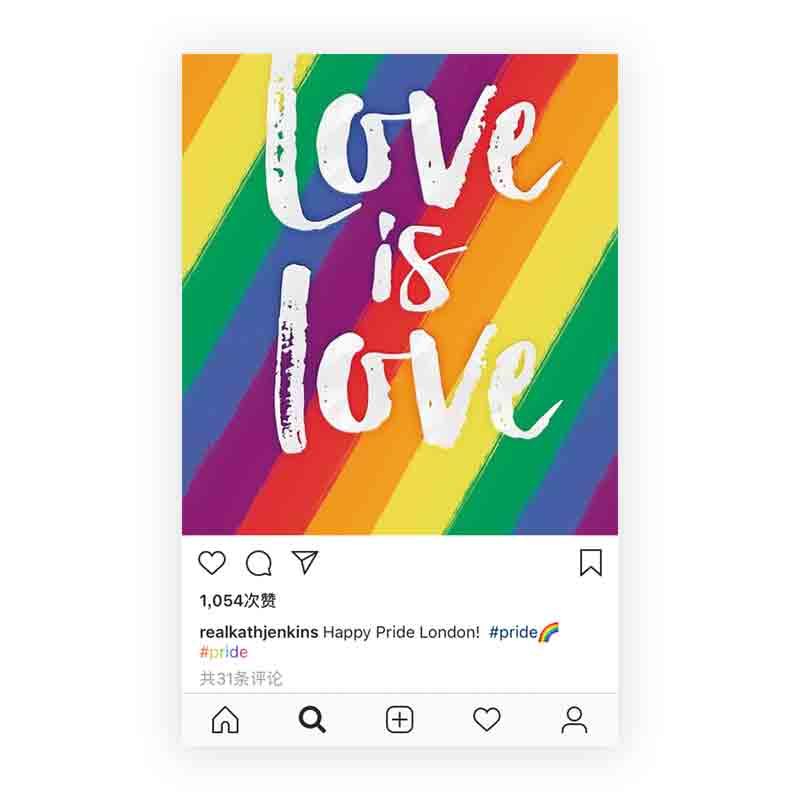 Instagram上出现的彩虹色#Tag,是平权支持更是博爱与宽容 - 优设网 - UISDC