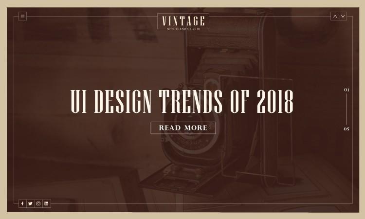 2018年,这些UI设计趋势正在流行