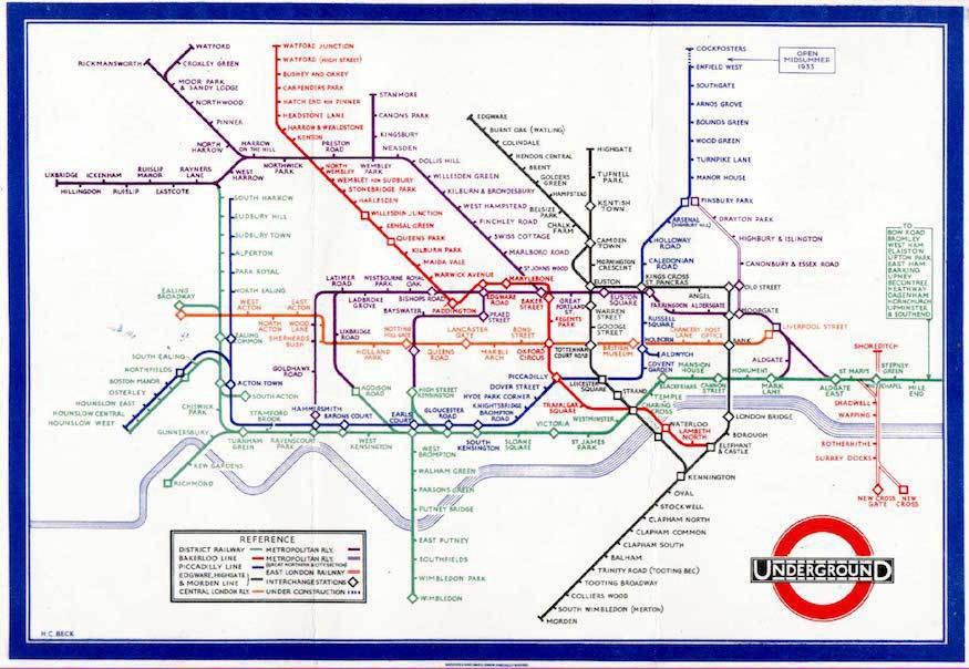 从伦敦地铁地图的演变史,我们能学到哪些设计经验