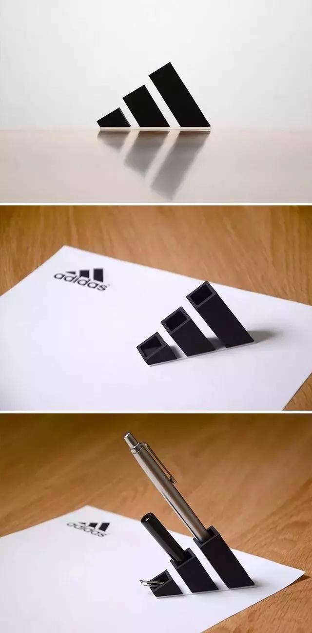 国外设计师个个都是人才,把别人的Logo直接打印出来用