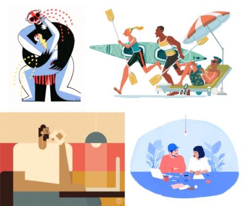 用这2个方法,让你迅速掌握不同的插画风格