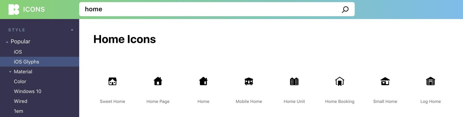 为了更好的搜索和下载体验,ICONS8 重新设计了网站