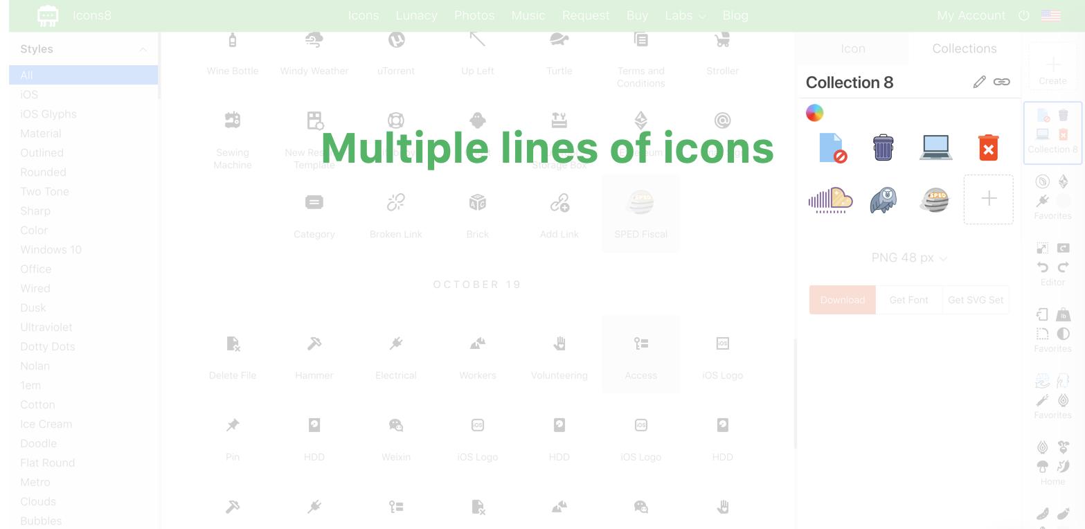 為了更好的搜索和下載體驗,ICONS8 重新設計了網站
