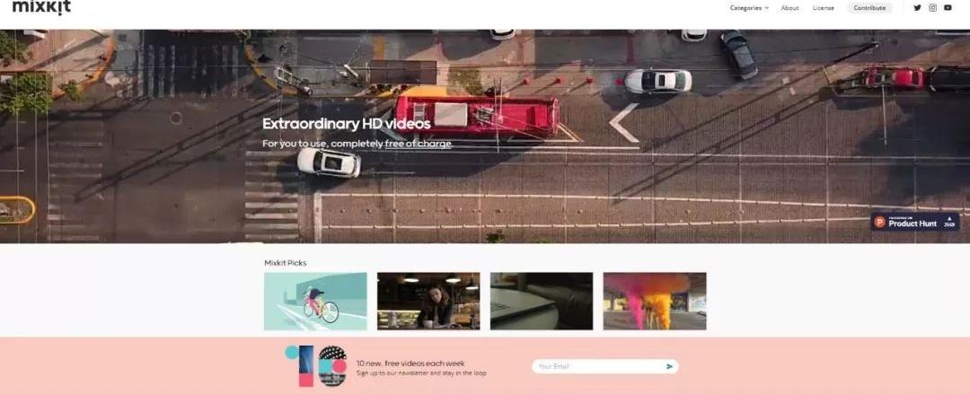 好站推荐:Mixkit免费视频素材网站,可下载4K超高清视频(英文站点)