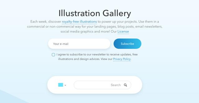 免费可商用!收好这个可自定义颜色的矢量插画图库