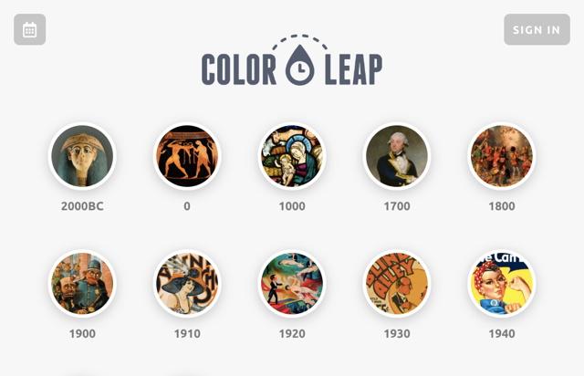 色彩时光机!可查询每个时代流行配色组合的 Color Leap