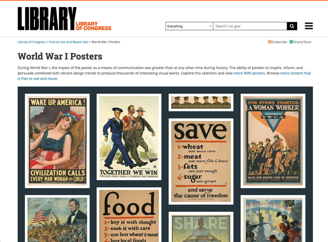 免费免注册!美国国会图书馆开放超多素材下载!