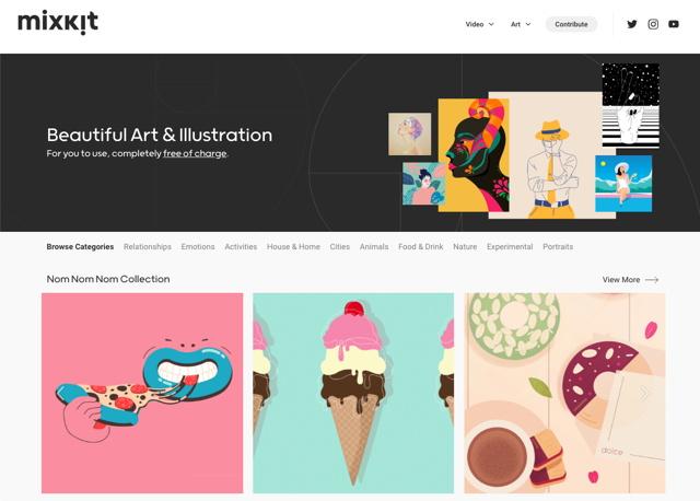 免费可商用!超多高质量的插画素材都在这个网站了!