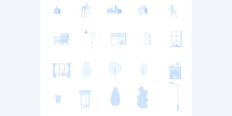 近1000个人物素材+20个常用场景,价值上百元的插画素材免费打包下载!