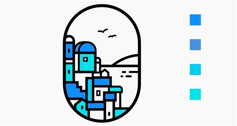 如何从零开始绘制线性插画风景?来看高手的设计思路总结!