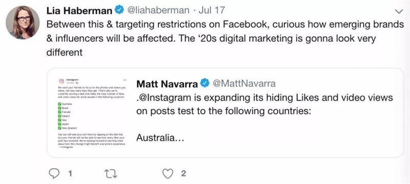 Instagram隐藏点赞数后,国外社交媒体发生了什么?