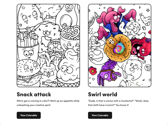 适合设计师的解压涂色本,这个网站免费帮你做!