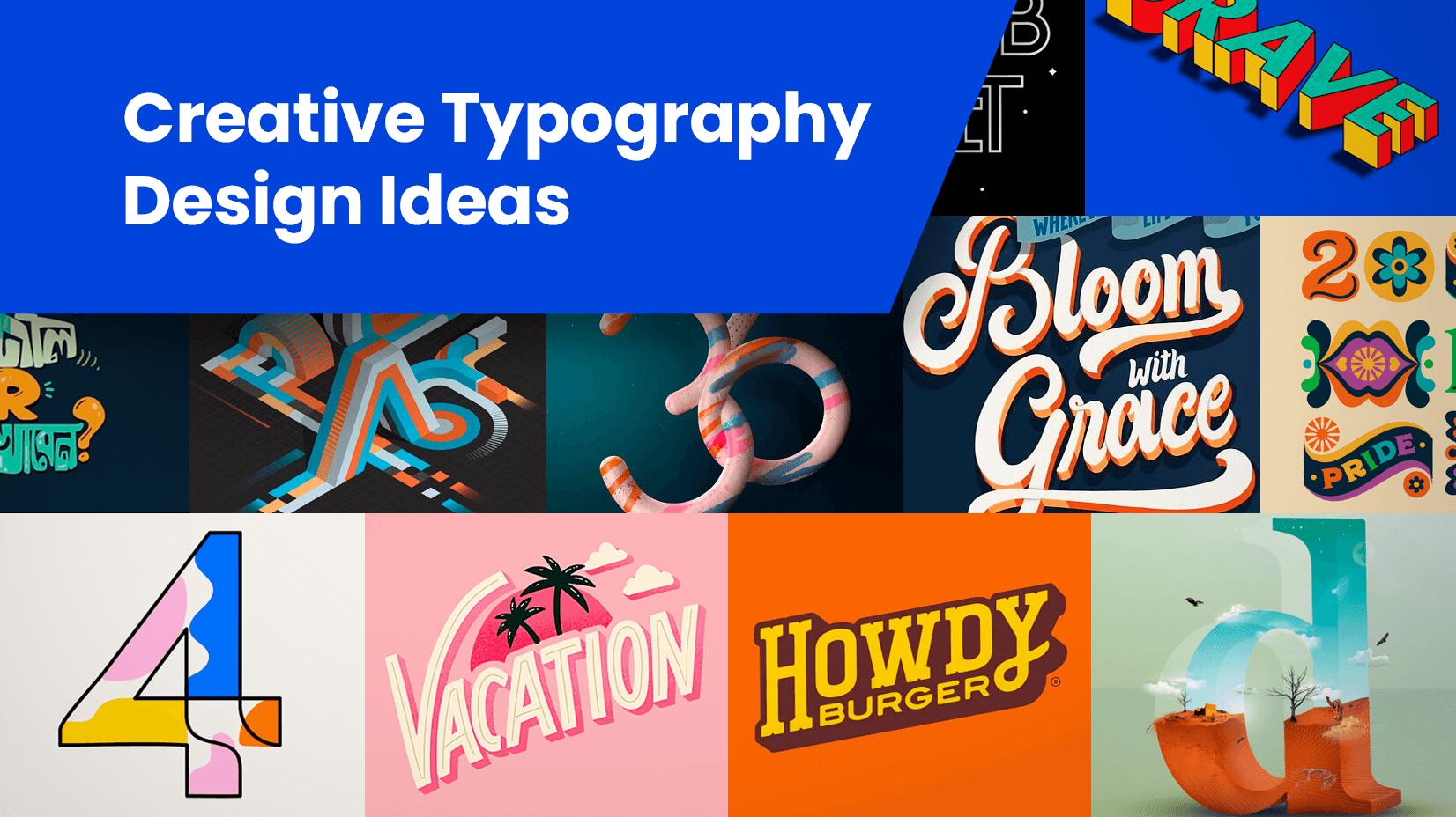 14种实用且流行的方法来使排版更具创意