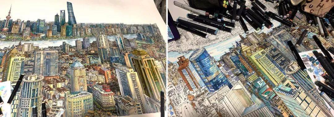 90后小伙画出长达2.9m故宫全景图,粉丝疯狂为他点赞