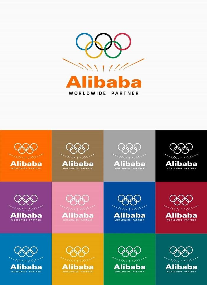 阿里巴巴发布全新奥运组合LOGO,仅用9根线「托」起五环!