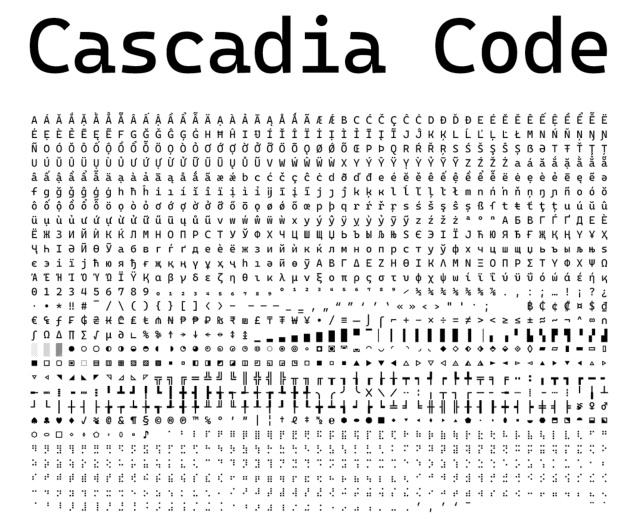 免费使用!微软专门为程序员开发了这款等宽字体!