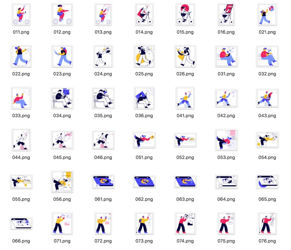 免费可商用!108张高质量人物插画打包下载