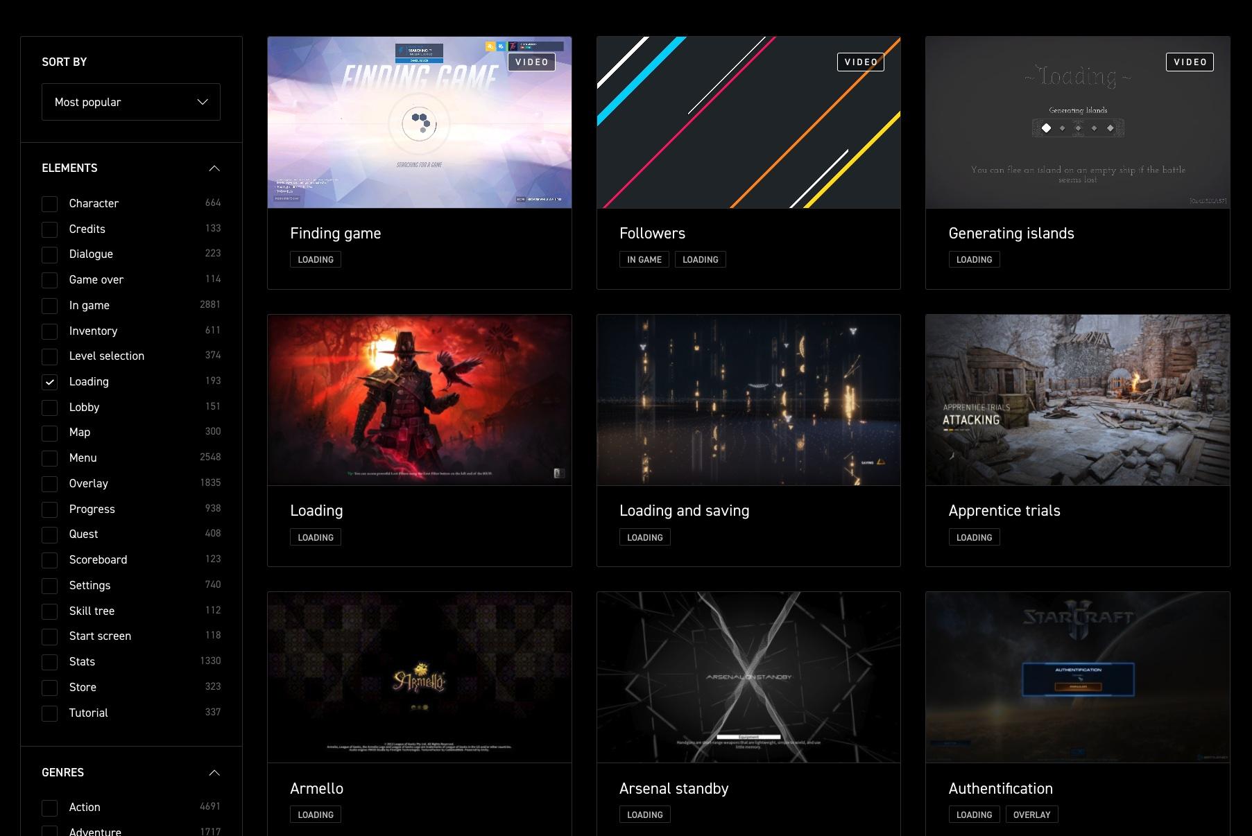 比花瓣还专业!200多款顶级游戏的UI和交互设计都在这里!