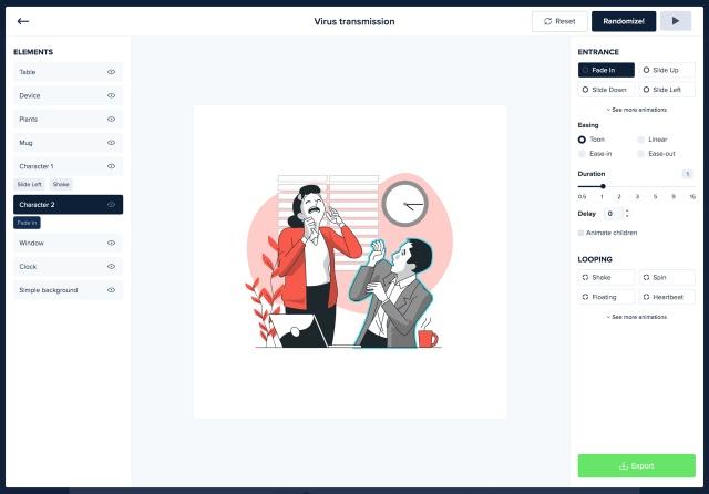 免费插画素材库!在线编辑免安装还能变成动画!
