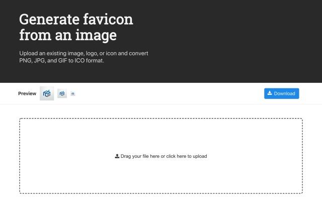 想给网站换个图标?收下这个超强大的免费生成器!