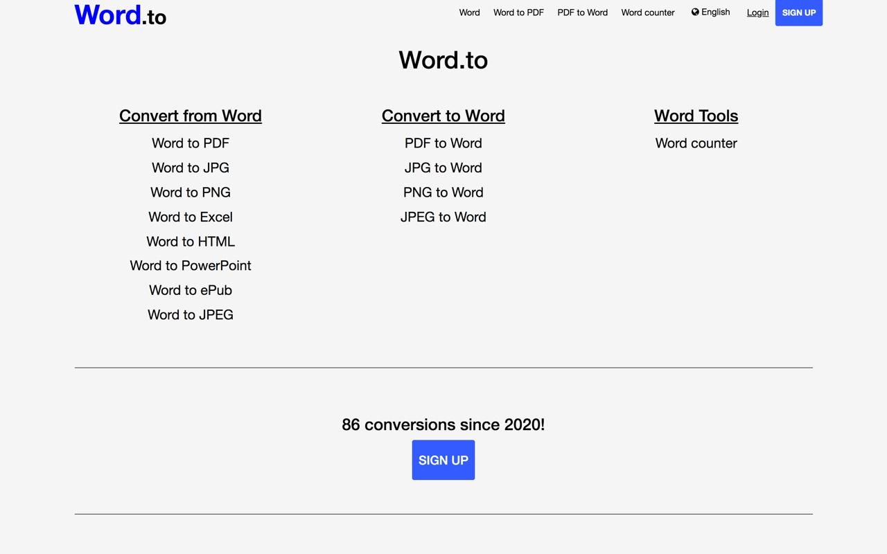 免费神器!这个网站能把 Word 文档转成其他 8 种常用格式