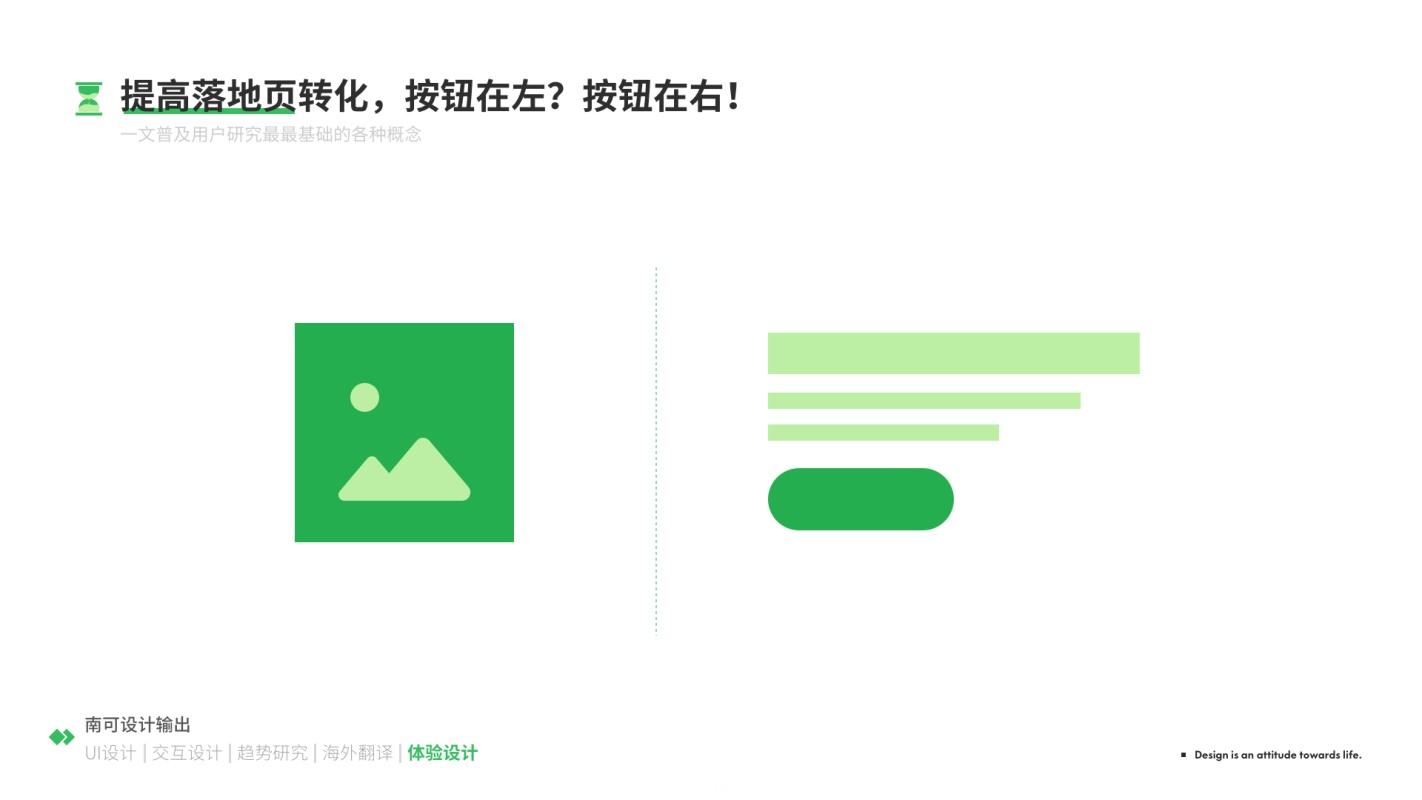 想提高设计转化率,按钮应该放在左边还是右边?