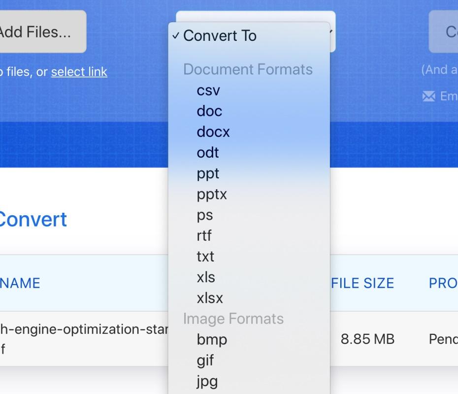 收藏这个网站,可以免费转化超过1100种文件格式!