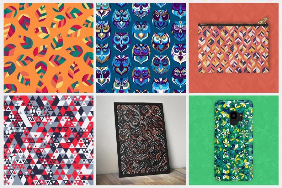 这位十年经验的设计师,做了超过150张顶级图案纹理素材!