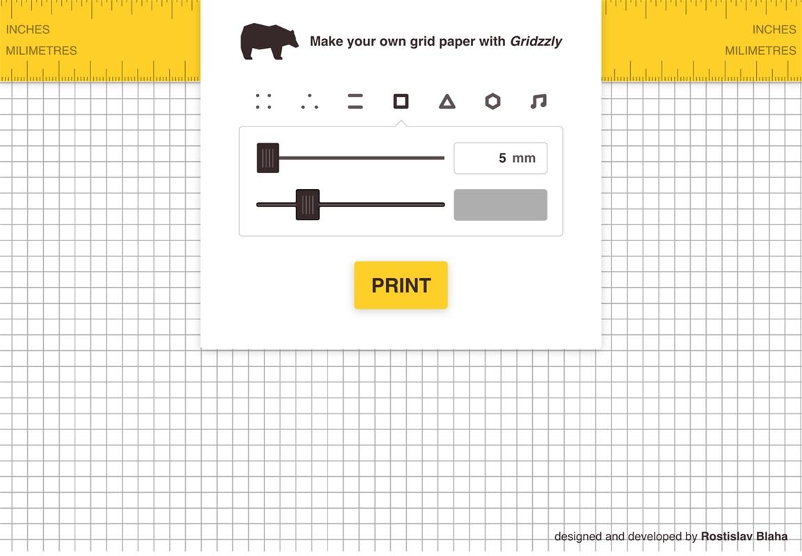 这个网站不仅能帮你自制方格纸,还能选类型、间距和线条颜色